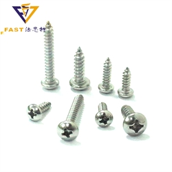 DIN 7981 Stainless Steel Cross Recessed Pan Head Tapping Screws